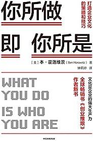 你所做即你所是:打造企业文化的策略和技巧(被扎克伯格称为硅谷年轻企业家的管理导师,100万册畅销书《创业维艰》作者霍洛维茨新作!知名投资人符绩勋,樊登博士推荐)