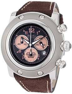 """Glam Rock 女式""""迈阿密""""瑞士石英不锈钢和绒面休闲手表,颜色:棕色(型号:GR11109)"""