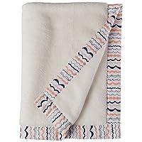 Bacati - Tribal/Aztec 毛绒刺绣 76.2 x 101.6 厘米婴儿毯(珊瑚色/*蓝*佳冒险)