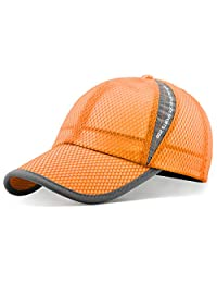 ellewin 夏季棒球帽速干散热太阳帽子 flexfit 运动帽网眼帽适用于高尔夫骑行跑步钓鱼户外研究