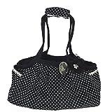 公主·衣橱 宠物用时髦的携带包 ‐ 黑色×白色圆点 F