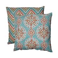 枕頭完美抱枕 藍色橙色 24.5-inch Floor Pillow 517223