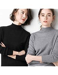 唐岚 贴身穿女毛衣长袖打底半高领套头韩版短款针织衫宽松短款