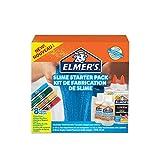 Starterset von Elmer's für klebrigen Slime彩色胶水, klarer PVA Kleber, Glitzer-Klebestifte und magische Slime-Aktivator-Flüssiglösung, 8 Teile