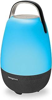 Creative Nova Alexa 支持 Wi-Fi 多室 5 驱动器便携式智能扬声器带蓝牙,7 小时电池寿命,适合房间空调音频,可定制的声音和光源,IP55 灰尘和防水