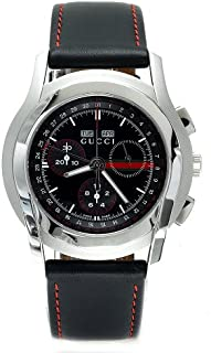 Gucci 男式瑞士石英不锈钢皮革休闲手表(型号:YA055208)