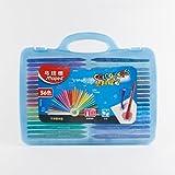 马培德24 36 48色塑料蜡笔 儿童绘画涂鸦画笔不粘手三角蜡笔 (36色塑盒)