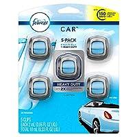 Febreze 汽车空气清新剂,5 个发夹,亚麻和天空 - 长达 150 天