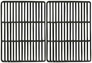 音乐城市 metals 68822光泽铸铁烹调网格套适用于 blooma 和 OUTBACK 品牌煤气烤架–黑色2支装
