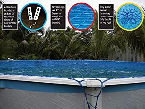 Swim Time Round Above Ground Pool Safety Net (Discontinued by Manufacturer) 蓝色 18-Feet