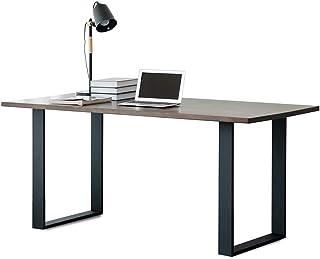 2 件装工业质朴家具腿 71.12 厘米高 x 45.02 厘米宽 装饰方形管桌腿,重型金属桌腿,餐桌腿,DIY 铁质支架长凳腿(仅腿,黑色)