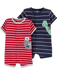 Carter's 男婴 2 件装卡扣连体衣
