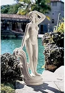 Design Toscano Mademoiselle Modele Art Deco Statue - Large 米黄色 中