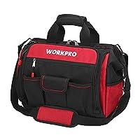 "WORKPRO 16"" 宽口工具袋,防水橡胶底座,多隔层,46 个口袋,可用于工具整理和储存,W081122A"