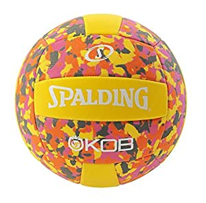 Spalding Kob (72 355Z) Beach Volleyball Volleyball, Yellow/Pink, 5