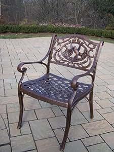 Oakland Living Hummingbird Cast Aluminum Arm Chair 古铜色 21.5W x 23D x 34H in.