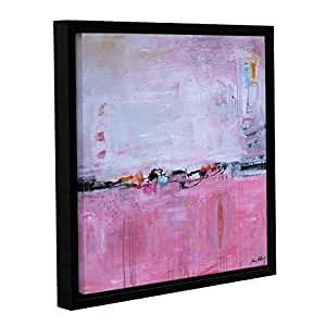 "ArtWall Jolina Anthony's Valiant Violet Gallery Wrapped Floater-Framed Canvas, 24""x 24"""