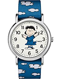 Timex 天美时 中性款尼龙防滑表带手表 TW2R41300 Weekender x Peanuts: Lucy
