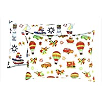 YourEcoFamily *质量幼儿枕套 - * 认证有机棉 - 柔软、舒适、自然低*性 Cars and Boats 2 Pack 14 x 19 unknown