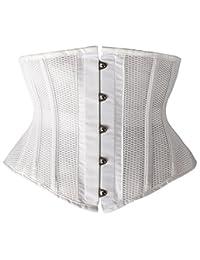 Camellias 女士小号钢骨束腰紧身胸衣短款躯干网格塑身衣
