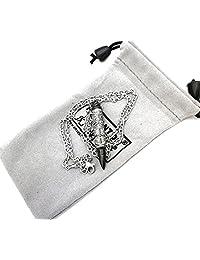 Constantine Bullet Pendant Necklace Urn Memorial Jewelry Ash Pill Filler Kit Stainless Steel  黑色