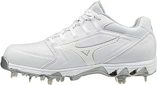 Mizuno 女士 9-Spike Swift 6 低金属防滑垒球鞋