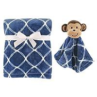 Hudson Baby Plush Blanket and Animal Security Blanket Set Boy Monkey