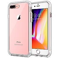 美国JETech 苹果iPhone7 Plus手机壳 iPhone 7 Plus手机套 保护套保护壳 TPU+PC软硬结合 柔软减震TPU边框 抗冲击硬质PC背壳 贴合度高 孔位精准 减震防摔设计 简约风格 男女适用 适用于5.5英寸Apple iPhone 7 Plus (透明) - 3431A