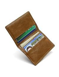 RFID 钱包 6 插槽双折卡包 - RFID 男式屏蔽钱包 - 皮革*钱包