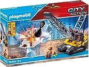 PLAYMOBIL 70442 城市行动建筑拆卸起重机 带工作绞车