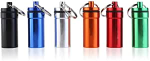 Kissmi 6 件套中号防水药盒盒钥匙扣容器