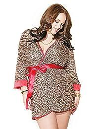 Coquette 女式大码豹纹长袍