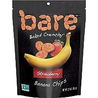 Bare 烤 脆香蕉片, 草莓味, 不含麸质, 2.7 Ounce/77g, 6 包