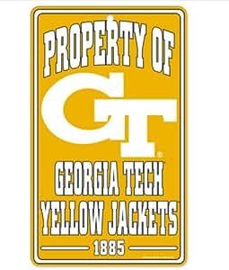 NCAA 佐治亚理工大学黄色夹克 17.78 厘米 x 30.48 厘米财产标志