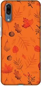 AMZER 超薄手工制作设计师印花卡扣式硬壳后盖带屏幕清洁套件皮肤适用于华为 P20 - Color It Tropical - 米色和*高清颜色,超轻背壳AMZ601040078286  Colours of Autumn