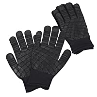 吸 黑色 L尺寸 5双装 (防滑带军手套)