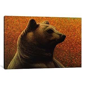"iCanvasART Bear Canvas Print by James W. Johnson, 26"" x 18""/1.5"" Deep"