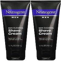 Neutrogena 露得清 Men Skin Clearing Shave Cream - 5.1 oz - 2 pk Pack of 2