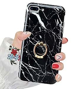 iPhone 8 Plus 手机壳,iPhone 7 Plus 手机壳,J.west iPhone 7 Plus TPU 手机壳奢华闪耀水晶透明软 TPU 硅胶后盖女士适用苹果 5.5 英寸 iPhone 8 Plus/7 Plus 大理石