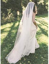 Unsutuo 2 层婚礼头纱及地新娘头纱 带梳子头纱 适合新娘