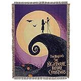 "Warner Brothers 圣诞夜惊魂系列海报编织挂毯,121.92 cm x 152.4 cm,多色 多种颜色 48"" x 60"" 1NBX/05100/0009/AMZ"