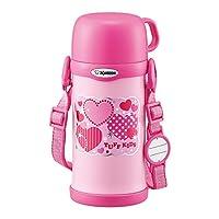 象印 ( ZOJIRUSHI ) 不锈钢水杯 带杯盖  600ml 粉色 SC-MC60-PA