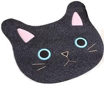 Ustide 可爱猫浴垫 儿童卡通门垫 TPR 防滑地板毯 适用于厕所/卧室。