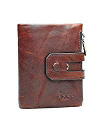 JEEP BULUO Genuine leather wallet for women and men