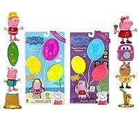 Peppa Pig 惊喜气球套装 2 件装 - 包括四个玩偶和十个惊喜配件(PEP0755)