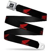 带扣式*带 - HONDA 摩托车徽标黑色/红色 - 2.54 cm 宽 - 50.80 cm 长 - 91.44 cm 长