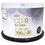Lazos CD-R 白宽印刷对应 旋钮盒L-CD50P データ用 50枚