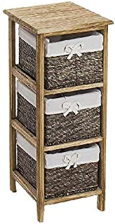 Dcasa 木质抽屉盒,3个抽屉,适用于节日装饰,家居,男女皆宜,成人,均码