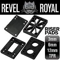 REVEL ROYAL 滑板 滑板车 甲板&滑板用 莱卡片 黑色 2片装