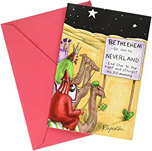 1277 Neverland Three Wise 男士独特幽默圣诞贺卡带信封